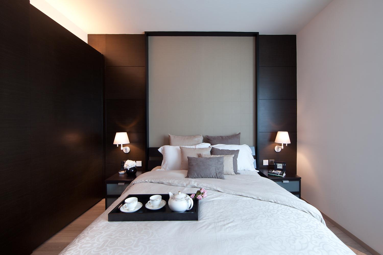 lui design associates residential interior modern apartment minimal hong kong china bedroom