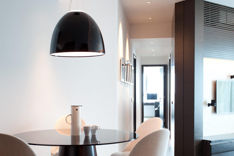 lui design associates residential interior modern apartment minimal hong kong china table lamp designer italian minimal lampshade