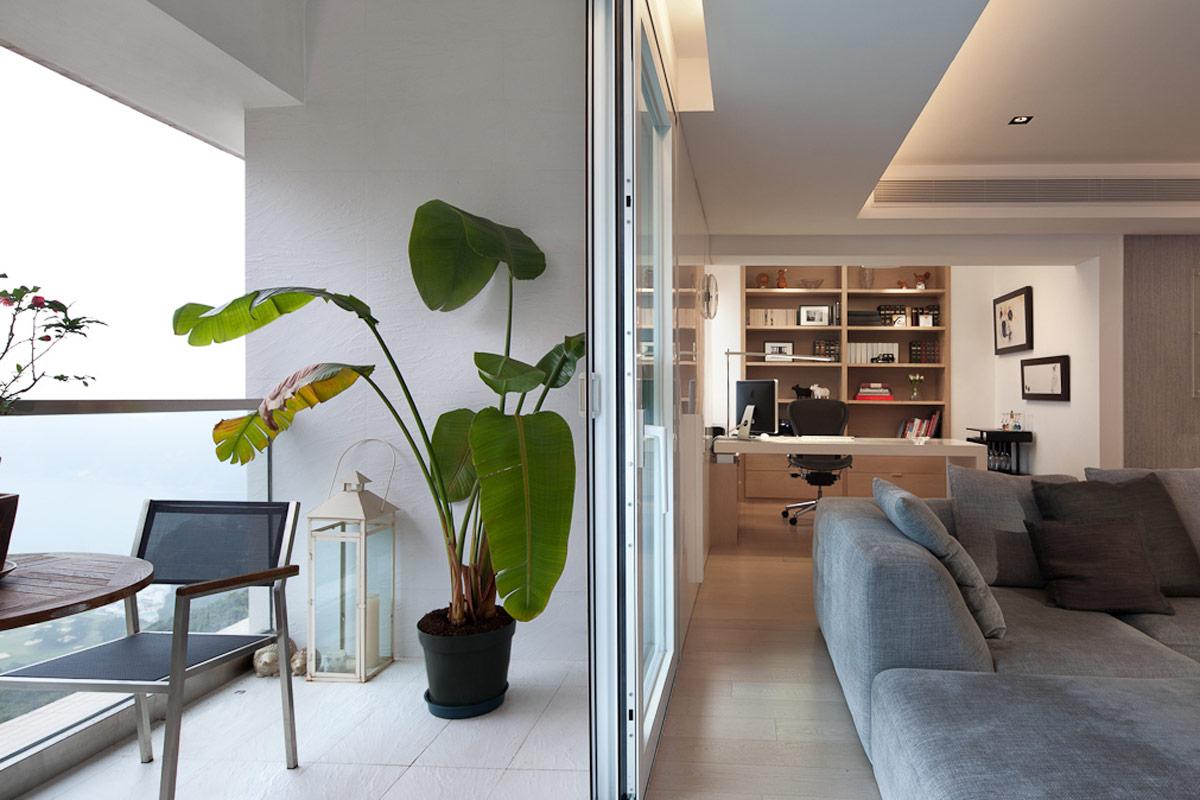 lui design associates hong kong china modern apartment living japanese style wood contemporary minimal apartment residential interior